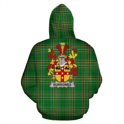 Burrowes Ireland Hoodie Irish National Tartan (Pullover) | Women & Men | Over 1400 Crests