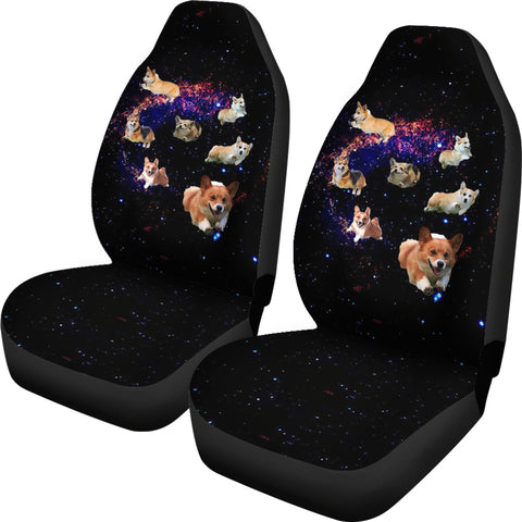 Image of Corgis in Space Car Seat Covers K5