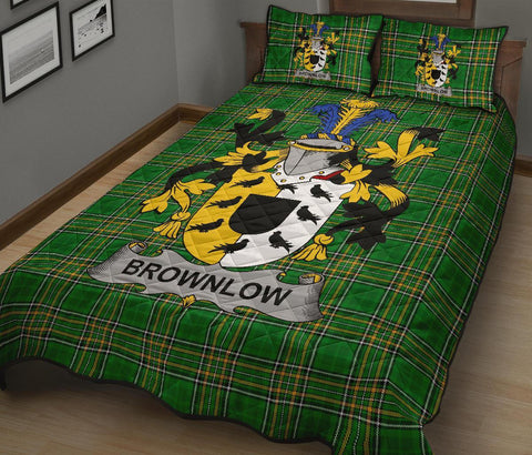 Brownlow Ireland Quilt Bed Set Irish National Tartan | Over 1400 Crests | Home Set | Bedding Set