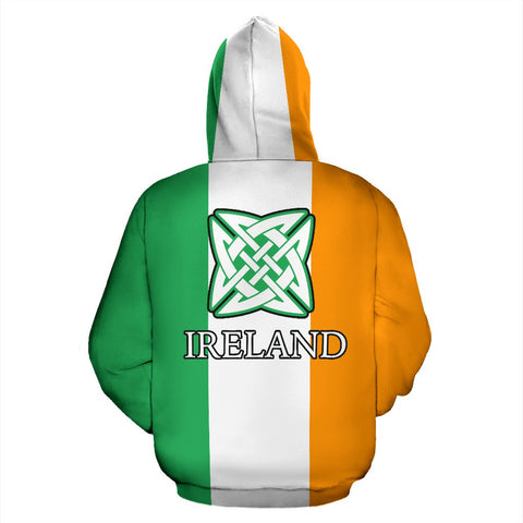 Ireland Shamrock Hoodie, Celtic Knot All Over Print Hoodie TH5