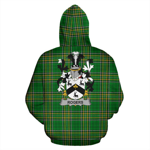 Rogers Ireland Hoodie Irish National Tartan (Pullover) | Women & Men | Over 1400 Crests