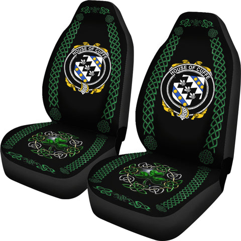 Cuffe Ireland Shamrock Celtic Irish Surname Car Seat Covers TH7