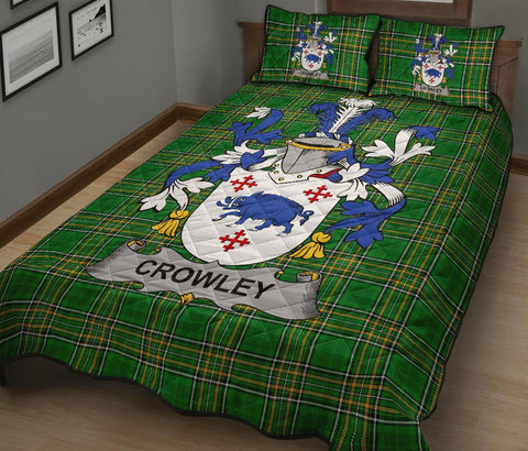 Crowley or O'Crouley Ireland Quilt Bed Set Irish National Tartan | Over 1400 Crests | Home Set | Bedding Set