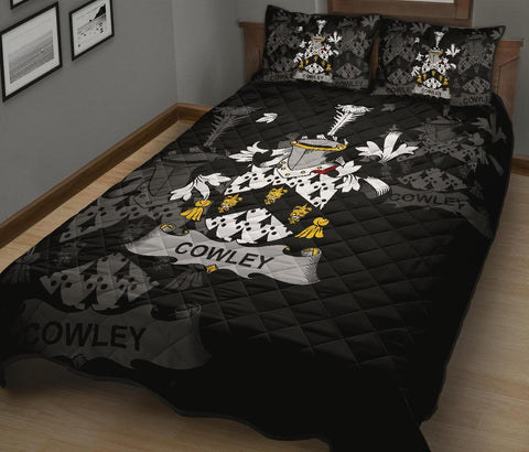 Irish Quilt Bed Set, Cowley or Cooley Family Crest Premium Quilt And Pillow Cover A7