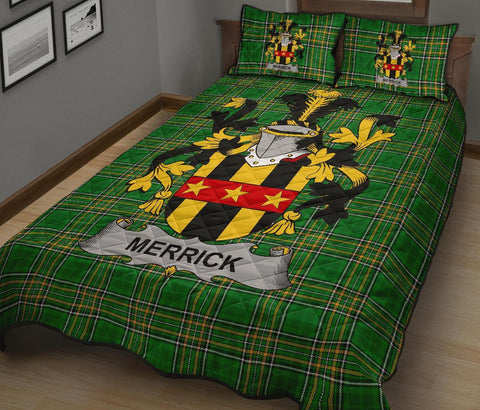 Merrick or Meyrick Ireland Quilt Bed Set Irish National Tartan | Over 1400 Crests | Home Set | Bedding Set
