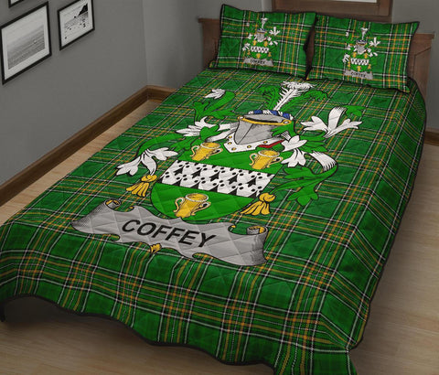 Coffey or O'Coffey Ireland Quilt Bed Set Irish National Tartan | Over 1400 Crests | Home Set | Bedding Set