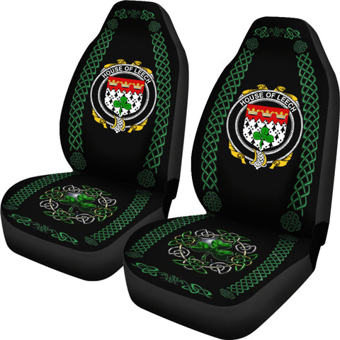 Image of Leech Ireland Shamrock Celtic Irish Surname Car Seat Covers TH7