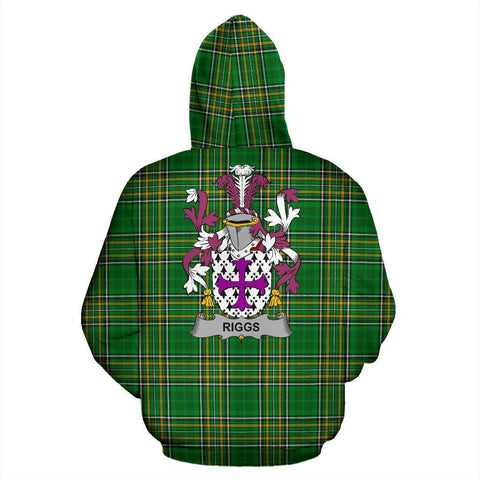Riggs Ireland Hoodie Irish National Tartan (Pullover) | Women & Men | Over 1400 Crests