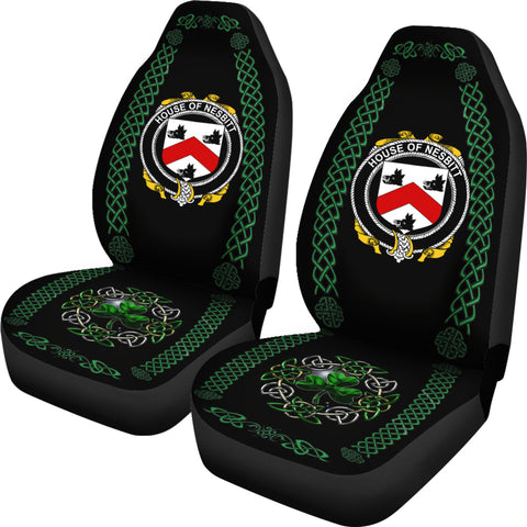 Nesbitt Ireland Shamrock Celtic Irish Surname Car Seat Covers TH7