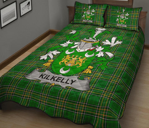 Kilkelly or Killikelly Ireland Quilt Bed Set Irish National Tartan | Over 1400 Crests | Home Set | Bedding Set