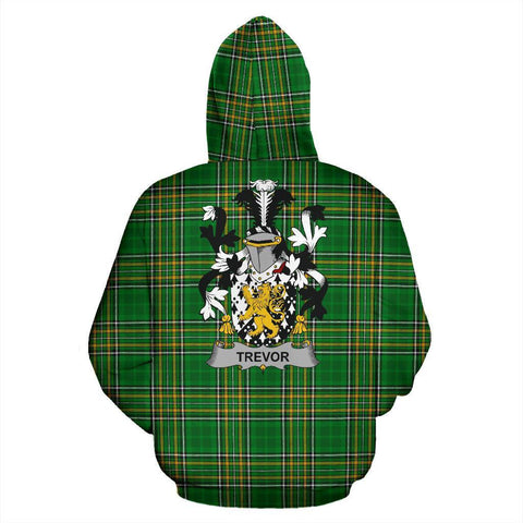 Trevor Ireland Hoodie Irish National Tartan (Pullover) | Women & Men | Over 1400 Crests