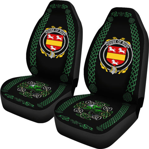 Rush Ireland Shamrock Celtic Irish Surname Car Seat Covers TH7