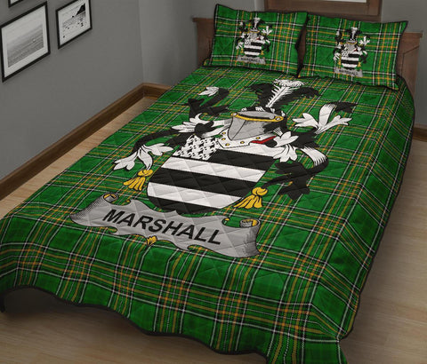 Marshall Ireland Quilt Bed Set Irish National Tartan | Over 1400 Crests | Home Set | Bedding Set