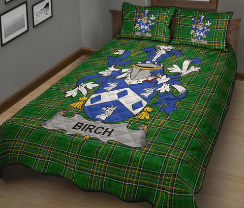 Birch Ireland Quilt Bed Set Irish National Tartan | Over 1400 Crests | Home Set | Bedding Set
