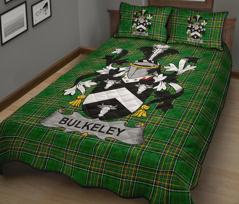 Bulkeley Ireland Quilt Bed Set Irish National Tartan | Over 1400 Crests | Home Set | Bedding Set