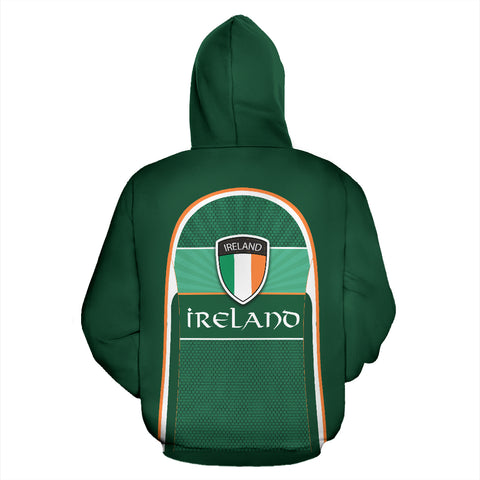 Ireland All Over Print Zip-Up Hoodie