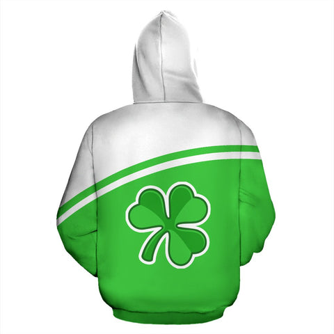 Image of Ireland All over Zip-Up Hoodie - Curve Version - BN04
