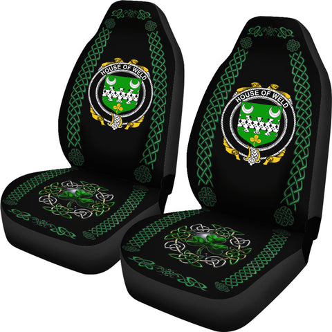 Image of Weld Ireland Shamrock Celtic Irish Surname Car Seat Covers TH7