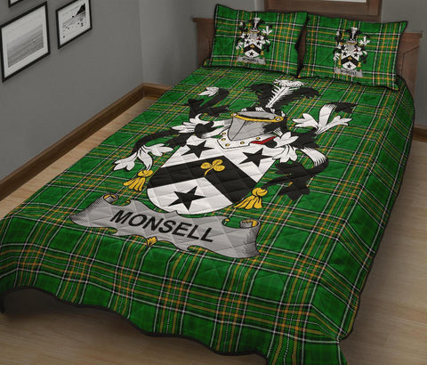 Monsell Ireland Quilt Bed Set Irish National Tartan | Over 1400 Crests | Home Set | Bedding Set