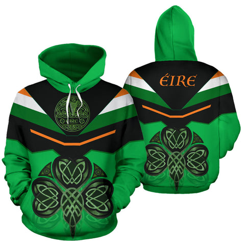 Ireland Celtic Shamrock Hoodie - Green Color - For Man And Woman