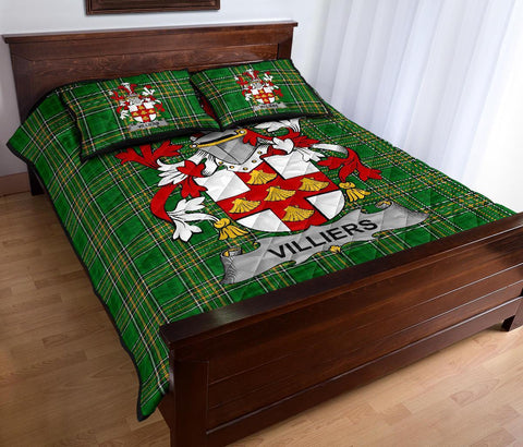 Villiers Ireland Quilt Bed Set Irish National Tartan | Over 1400 Crests | Home Set | Bedding Set