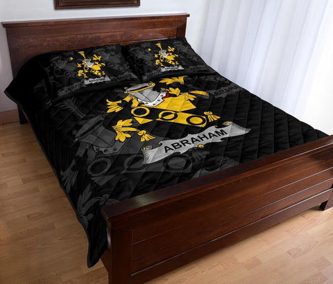 Irish Quilt Bed Set, Abraham Family Crest Premium Quilt And Pillow Cover A7