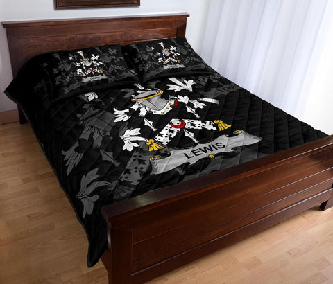 Irish Quilt Bed Set, Lewis Family Crest Premium Quilt And Pillow Cover A7