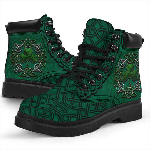 Image of Irish All Season Boots, Ireland Celtic Shamrock Boots | 1stireland.com
