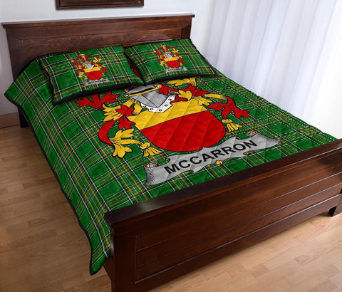 Image of McCarron Ireland Quilt Bed Set Irish National Tartan | Over 1400 Crests | Home Set | Bedding Set