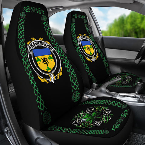 Lincolne Ireland Shamrock Celtic Irish Surname Car Seat Covers TH7