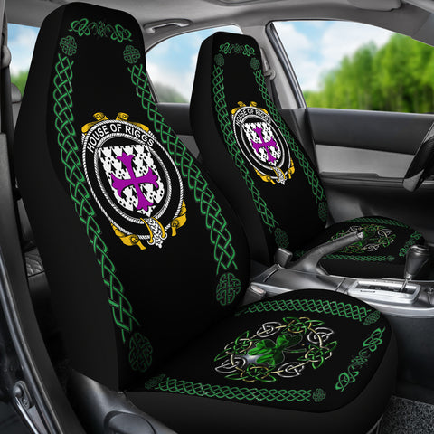 Riggs Ireland Shamrock Celtic Irish Surname Car Seat Covers TH7