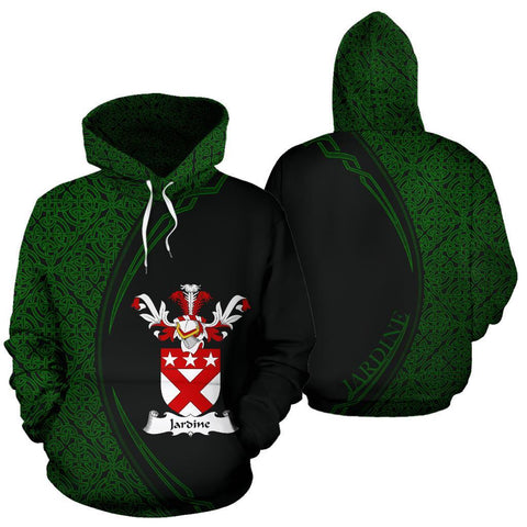 Jardine Family Crest Hoodie Irish Circle Style Hj4