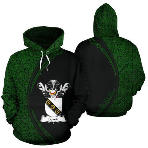 Bowie Family Crest Hoodie Irish Circle Style Hj4