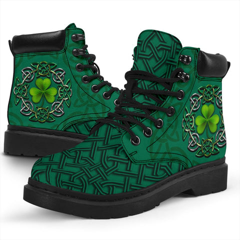 Irish St Patrick's Day Boots, Ireland Celtic Clover All Season Boots | 1stireland