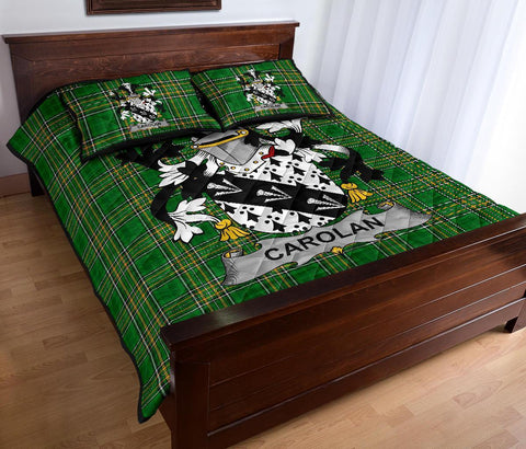 Image of Carolan Ireland Quilt Bed Set Irish National Tartan | Over 1400 Crests | Home Set | Bedding Set