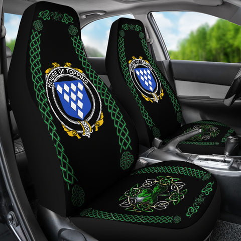 Topping Ireland Shamrock Celtic Irish Surname Car Seat Covers TH7
