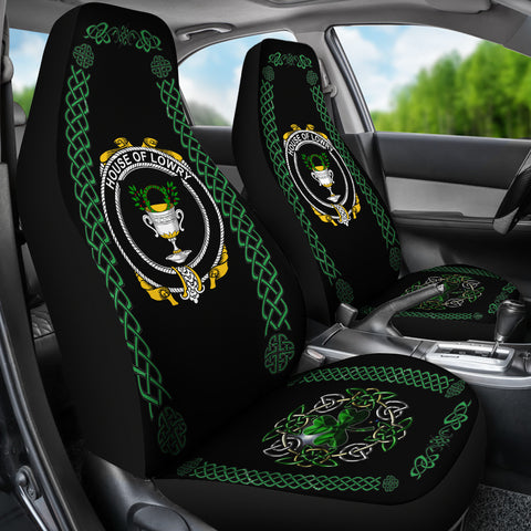 Lowry or Lavery Ireland Shamrock Celtic Irish Surname Car Seat Covers TH7