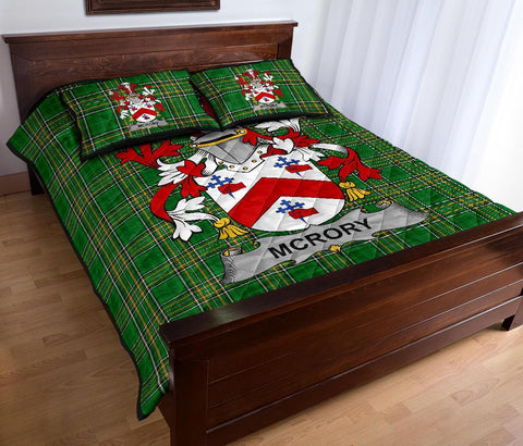 McRory or McCrory Ireland Quilt Bed Set Irish National Tartan | Over 1400 Crests | Home Set | Bedding Set