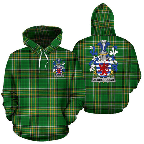Aldborough Ireland Hoodie Irish National Tartan (Pullover) | Women & Men | Over 1400 Crests