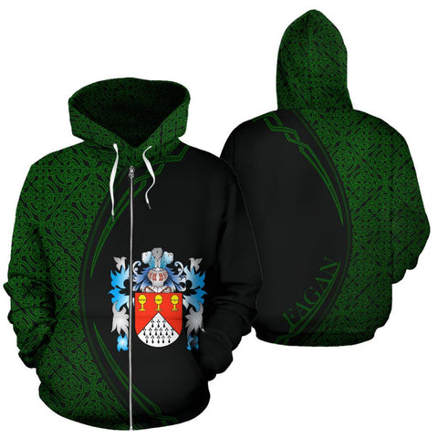 Fagan Family Crest Zip Hoodie Irish Circle Style