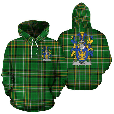 Dunn or O'Dunn Ireland Hoodie Irish National Tartan (Pullover) | Women & Men | Over 1400 Crests