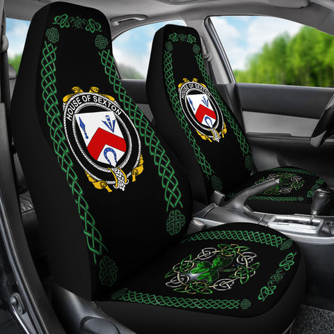 Image of Sexton Ireland Shamrock Celtic Irish Surname Car Seat Covers TH7
