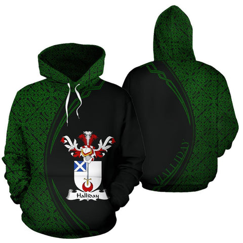 Halliday Family Crest Hoodie Irish Circle Style Hj4