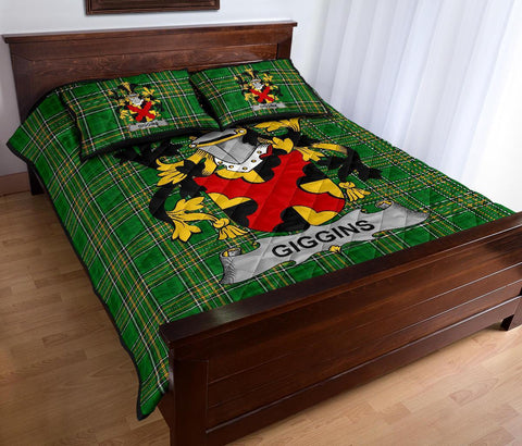 Giggins Ireland Quilt Bed Set Irish National Tartan | Over 1400 Crests | Home Set | Bedding Set
