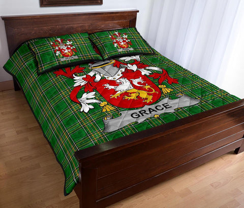 Grace Ireland Quilt Bed Set Irish National Tartan | Over 1400 Crests | Home Set | Bedding Set
