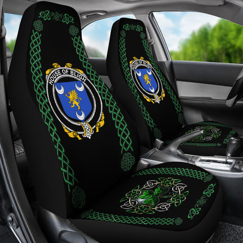 Bligh Ireland Shamrock Celtic Irish Surname Car Seat Covers TH7