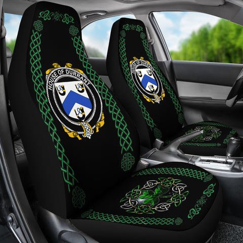 Durrant Ireland Shamrock Celtic Irish Surname Car Seat Covers TH7