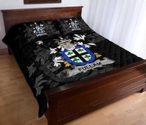 Irish Quilt Bed Set, Fullam Family Crest Premium Quilt And Pillow Cover A7