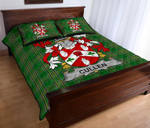 Cullen or O'Cullen Ireland Quilt Bed Set Irish National Tartan | Over 1400 Crests | Home Set | Bedding Set