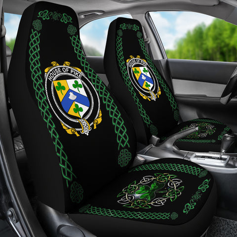 Pike Ireland Shamrock Celtic Irish Surname Car Seat Covers TH7